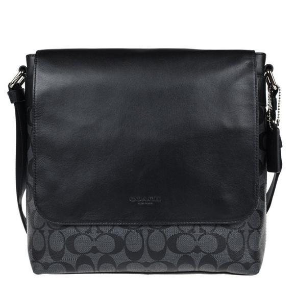 163ec80d6234 Coach Men s Charles Small Messenger Signature Bag